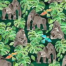 Gorillas in the Emerald Forest by micklyn