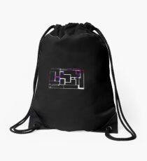Cool Purple Retro Style Drawstring Bag
