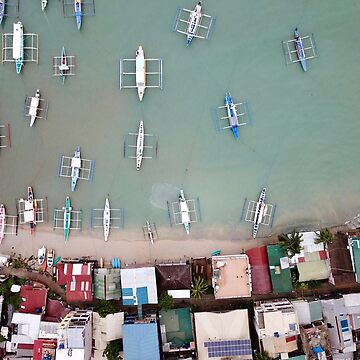 El Nido harbour in Palawan the Philippines by The-Drone-Man