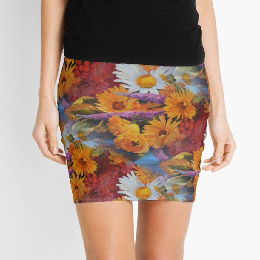 From With a Kiss from the sun Mini Skirt Front