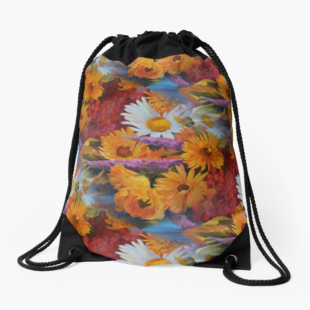 From With a Kiss from the sun Drawstring Bag Front