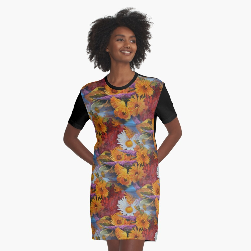 From With a Kiss from the sun Graphic T-Shirt Dress Front