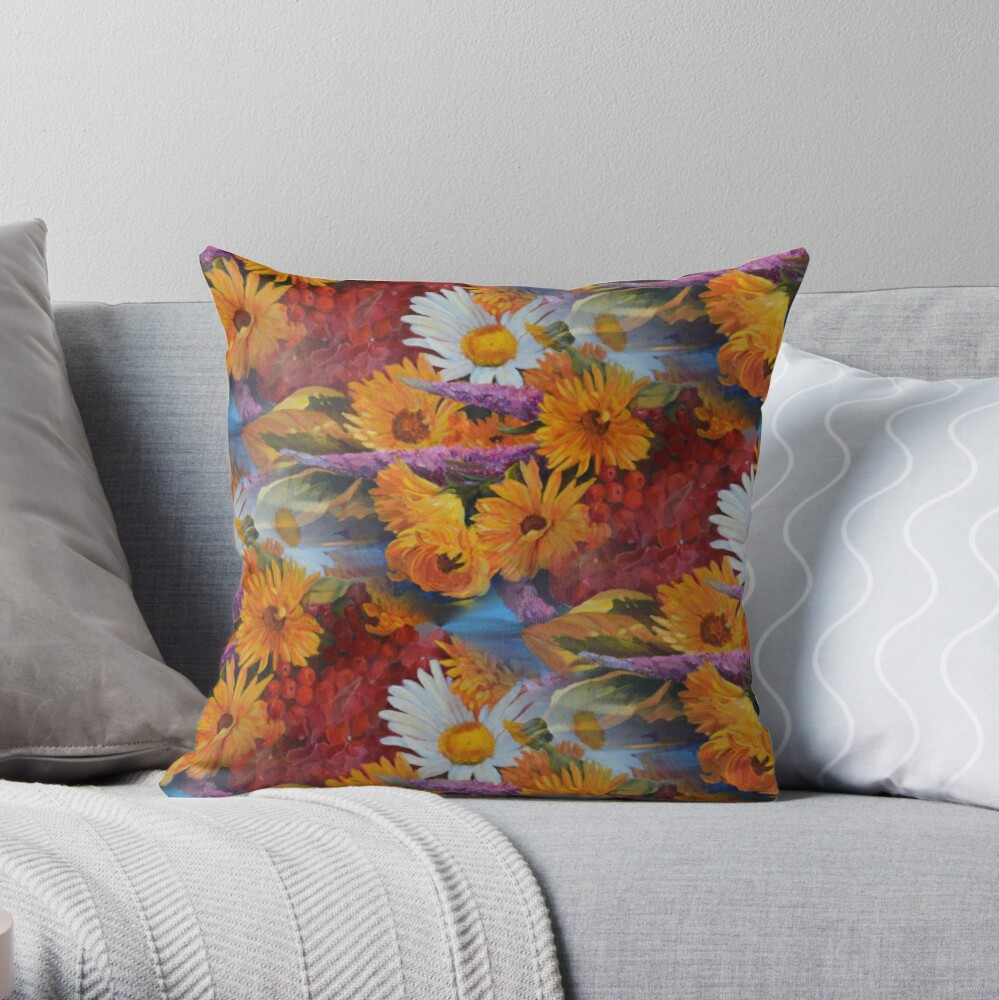From With a Kiss from the sun Throw Pillow