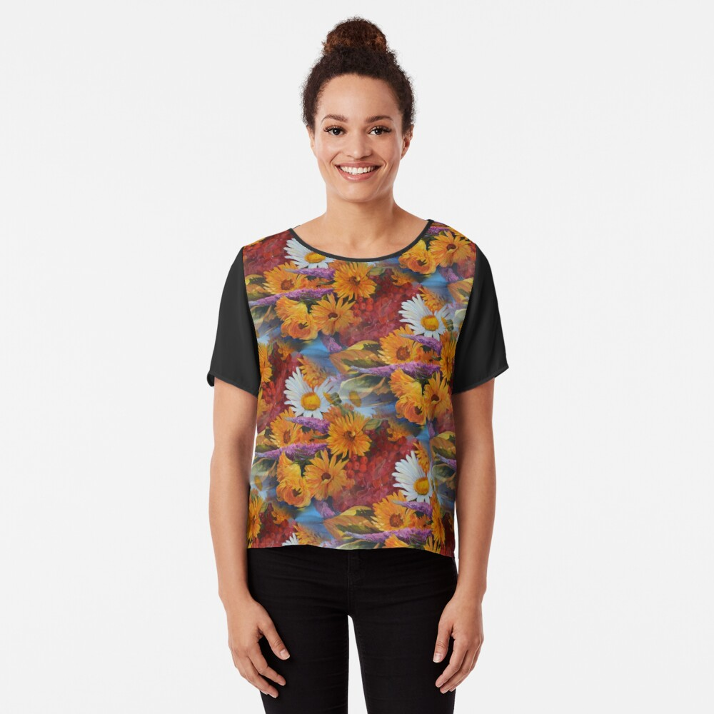 From With a Kiss from the sun Women's Chiffon Top Front