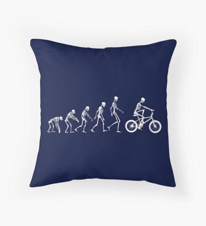 Evolution BMX Skeletons Throw Pillow