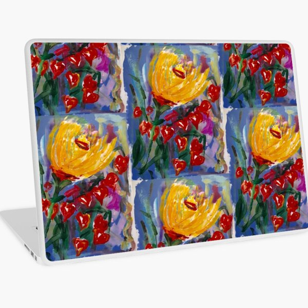 Painted Flowers of Tuscany  Laptop Skin
