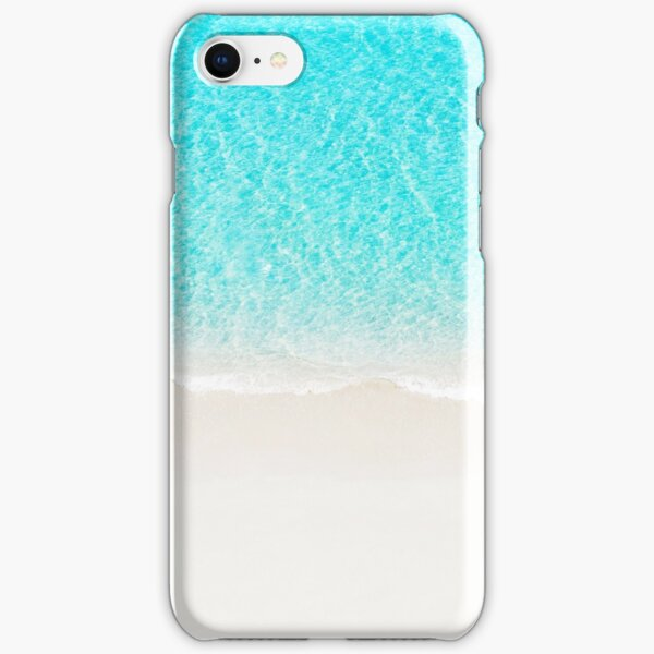 Sand beach with turquoise sea waves iPhone Snap Case