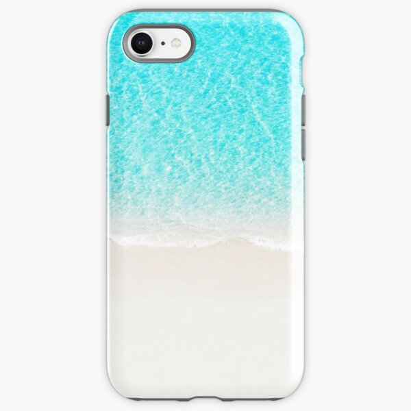 Sand beach with turquoise sea waves iPhone Tough Case