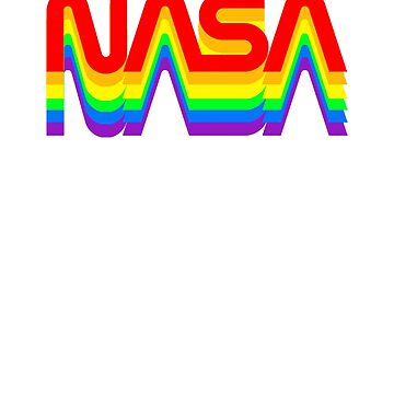 worm rainbow  NASA logo official images by Val-Universe