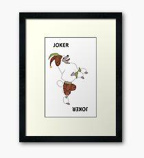 Joker - Dog Playing Cards Framed Print