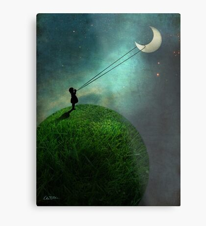 Chasing the moon Metal Print