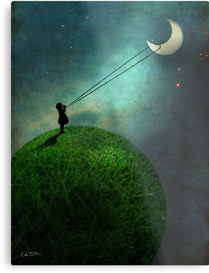 Chasing the moon by Catrin Welz-Stein