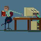 Hart arbeiten oder kaum arbeiten von Pixel-Bones