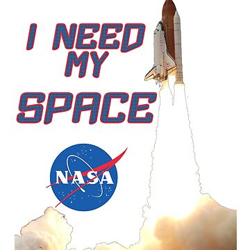 I need my space NASA official logo rocket gift by Val-Universe
