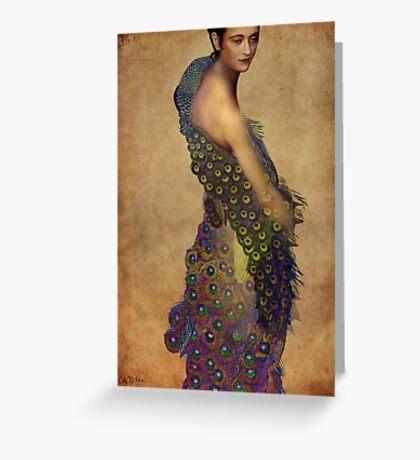 Peacock dress Greeting Card