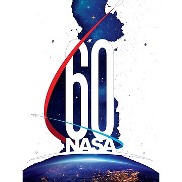 nasa 60th anniversary space image official logo gift by Val-Universe