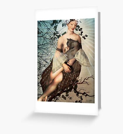 Madonna of the tree Greeting Card