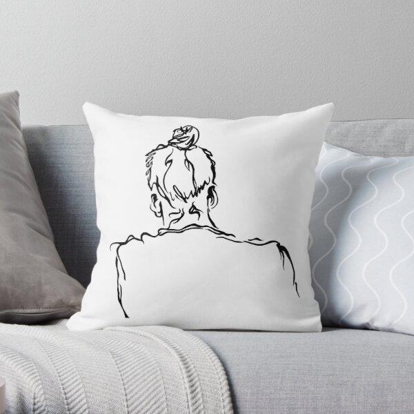 Portrait Sketch Throw Pillow