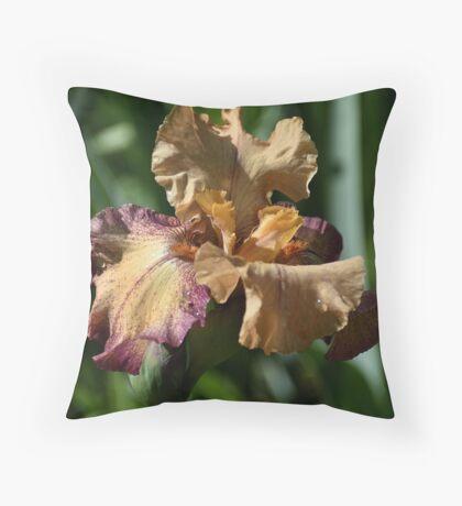 Iris - Rosy Tan Throw Pillow