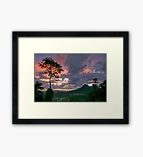 Sunrise From The Pali, Oahu Framed Print