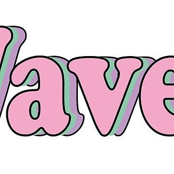 Retro wavey pink font by KHaines961