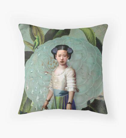 Morning Dew Girl Throw Pillow