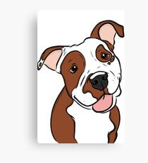 Happy Lil' Pit Bull  Canvas Print