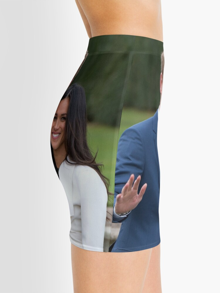 Alternate view of HRH Prince Harry and Meghan Markle Royal Wedding at Windsor Castle Pro Photo Mini Skirt