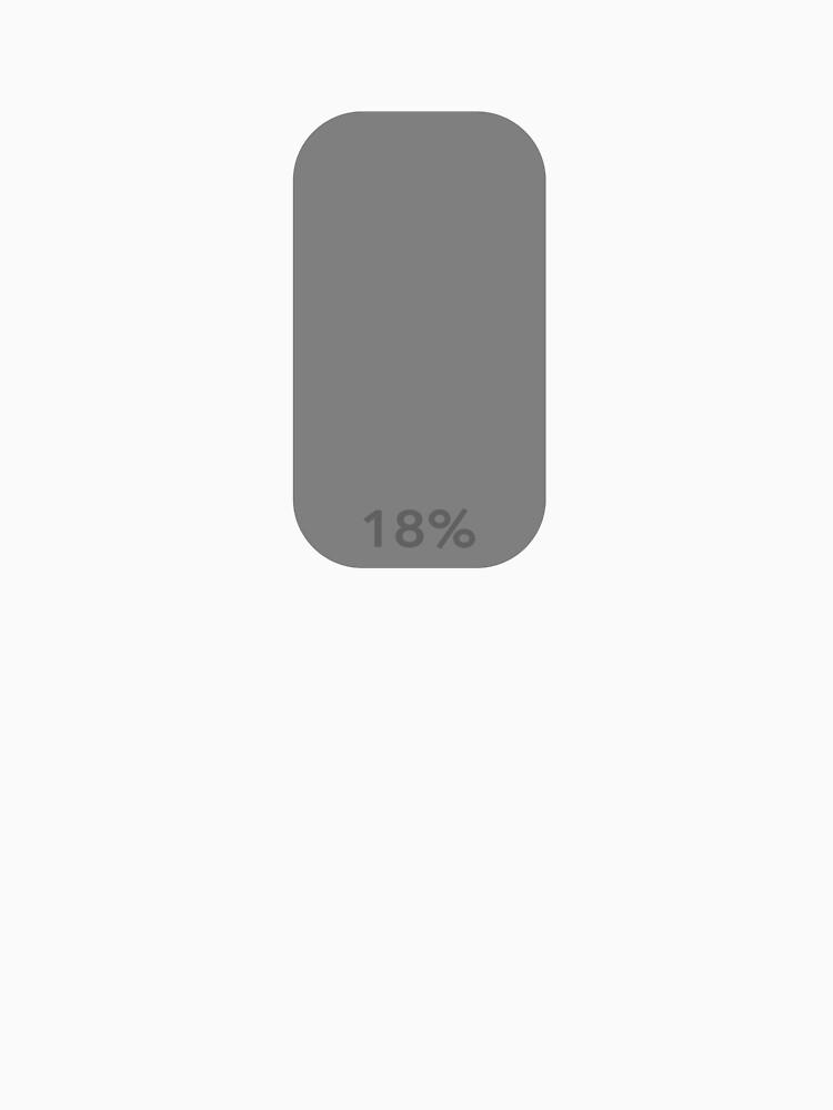 18% greycard shirt -splotchdog support shirt by tischbein3