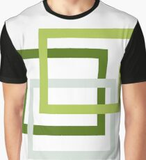 Green And Sage Nested Squares Graphic T-Shirt