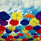 the floating umbrellas by psychoshadow