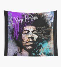 GUITAR GOD #streetart purple Wall Tapestry