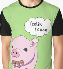 Feelin' Fancy Pig with Bow-Tie Graphic T-Shirt