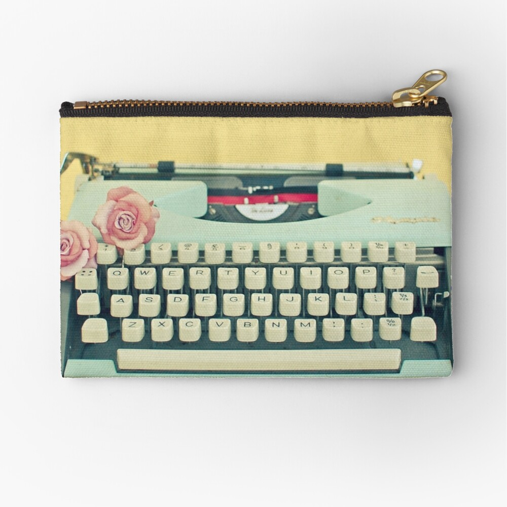 The Typewriter Zipper Pouch