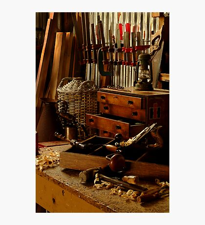 Craftman's Work Bench Photographic Print