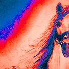 Neon Blue Orange Stallion by hdettman