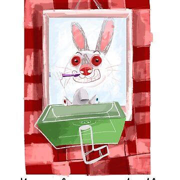 Rabbit diaries: Keep clean your teeth by belettelepink