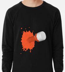roter Farbklecks Leichter Pullover