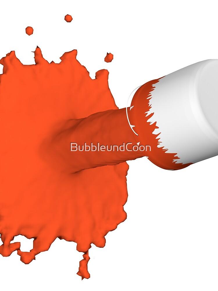 roter Farbklecks von BubbleundCoon