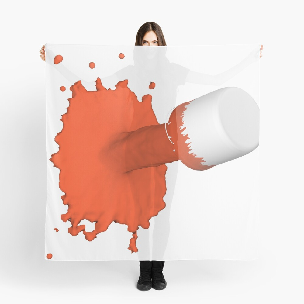 roter Farbklecks Tuch