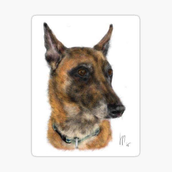 Happy Belgian Shepherd Dog  Sticker