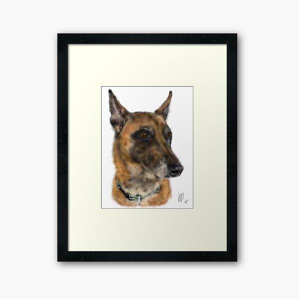 Happy Belgian Shepherd Dog  Framed Art Print