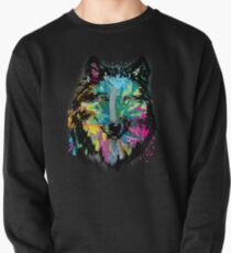 Colorful Lone Wolf  Pullover