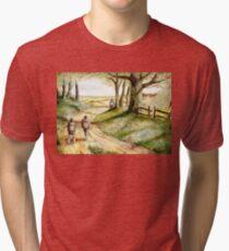 Three is Company Tri-blend T-Shirt