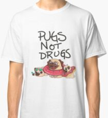 Pugs Not Drugs Summer Beach Edition Classic T-Shirt