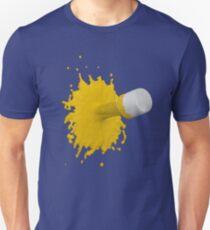 gelber Farbklecks Slim Fit T-Shirt