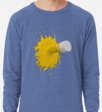 gelber Farbklecks Leichter Pullover