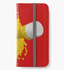 gelber Farbklecks iPhone Flip-Case/Hülle/Klebefolie