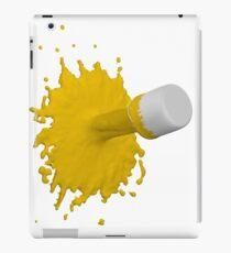 gelber Farbklecks iPad-Hülle & Klebefolie