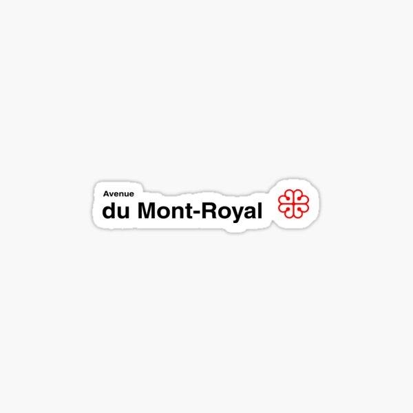Avenue du Mont-Royal Sticker